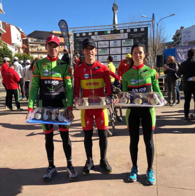 Desi Castro del Extremadura-Ecopilas, primera clasificada en categoría élite en la Maratón BTT de la Miel
