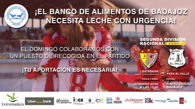 El Liberbank Santa Teresa Badajoz recogerá leche en colaboración con el Banco de Alimentos de Badajoz
