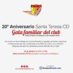 El Santa Teresa organiza una gala familiar en la que entregará distinciones y reconocimientos