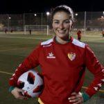 Declaraciones de Mariana Díaz en su primer entrenamiento con el Liberbank Santa Teresa Badajoz